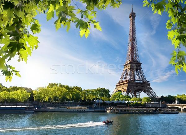 Wieża Eiffla Paryż Świt czasu słońce lata Zdjęcia stock © Givaga