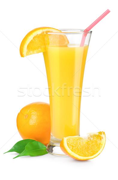 Portakal suyu cam yalıtılmış beyaz Stok fotoğraf © Givaga