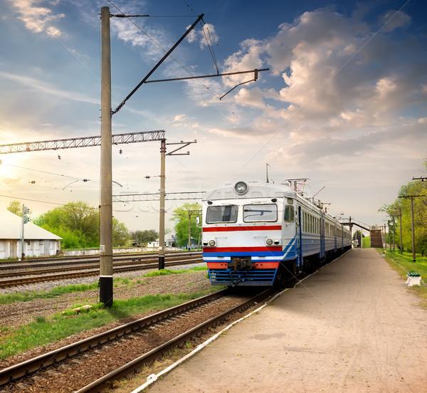 Train on station Stock photo © Givaga