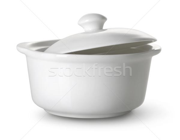 White ceramic tureen Stock photo © Givaga