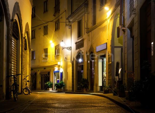 FLORENCE rue Italie fenêtre vélo Photo stock © Givaga