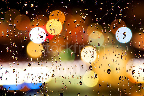 Drops on window Stock photo © Givaga