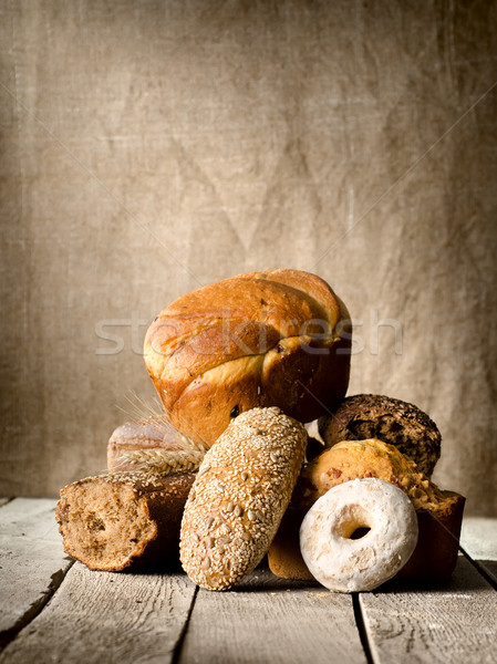 Bread on the old table Stock photo © Givaga