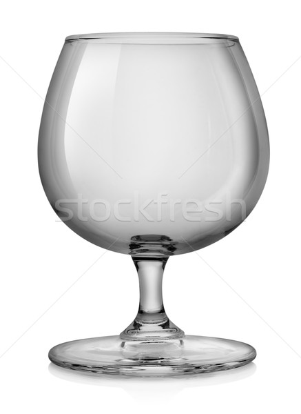 Brandy verre isolé blanche boissons alcool Photo stock © Givaga