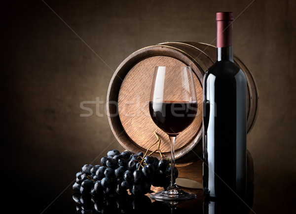 Wine and barrel Stock photo © Givaga