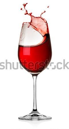 Splash wine isolated Stock photo © Givaga