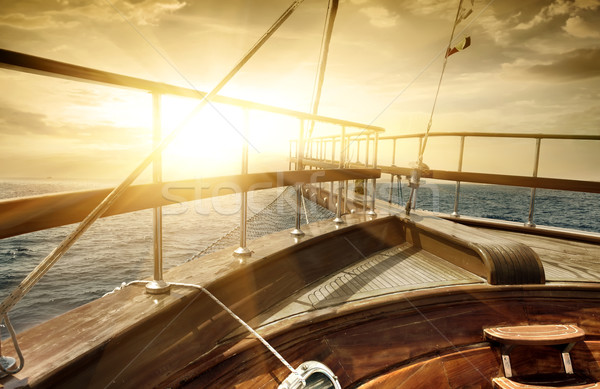 Ship in the sea Stock photo © Givaga