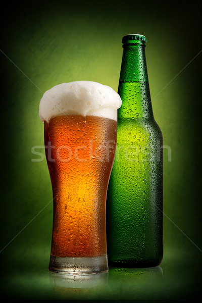 Beer in bottle and glass Stock photo © Givaga