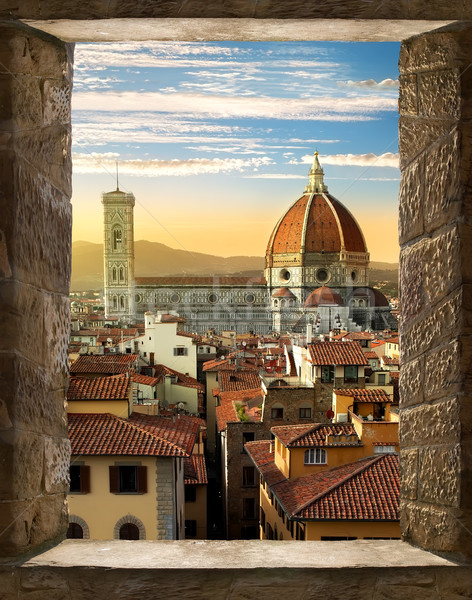 Florence from window Stock photo © Givaga