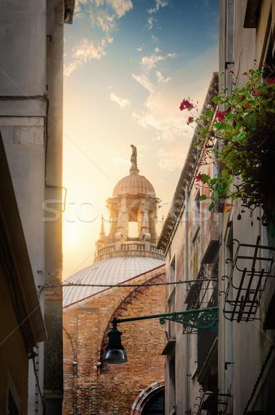通り ヴェネツィア 狭い 桟橋 イタリア ストックフォト © Givaga