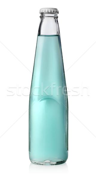 Bottle of blue alcohol Stock photo © Givaga