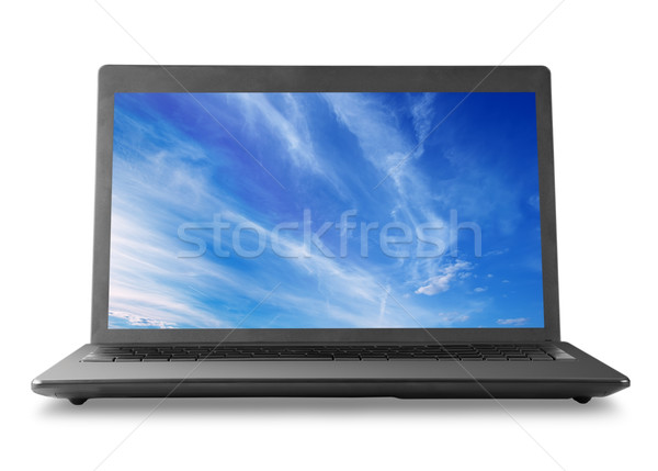 Stock photo: Laptop and sky
