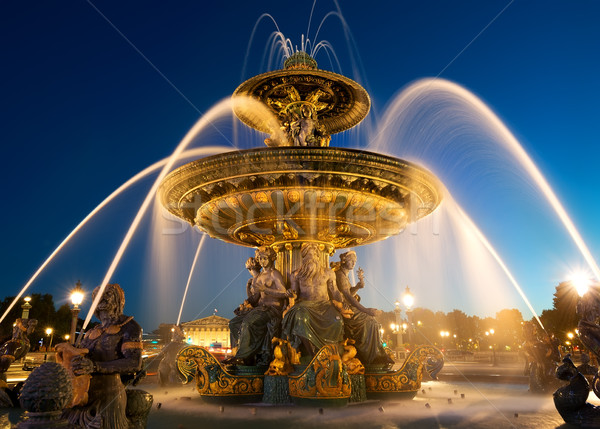 Fountain des Mers Stock photo © Givaga