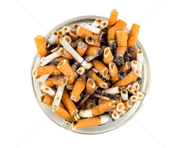 Cigarros cinzeiro isolado branco Foto stock © Givaga