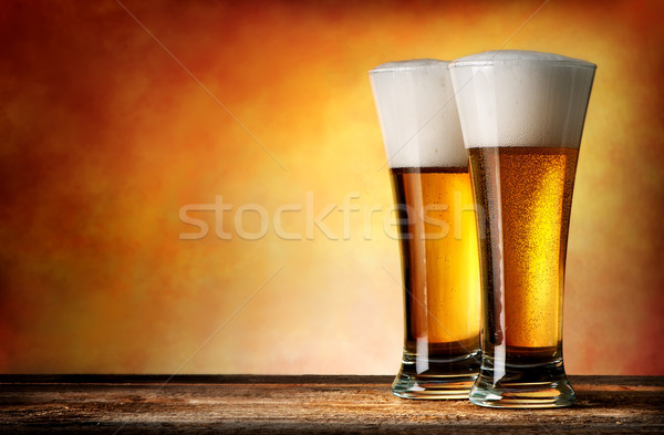 Two glasses of beer Stock photo © Givaga