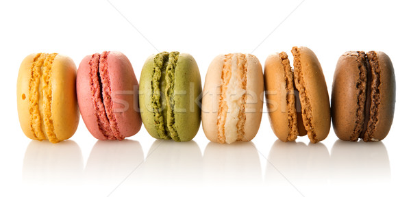 Row of macarons Stock photo © Givaga