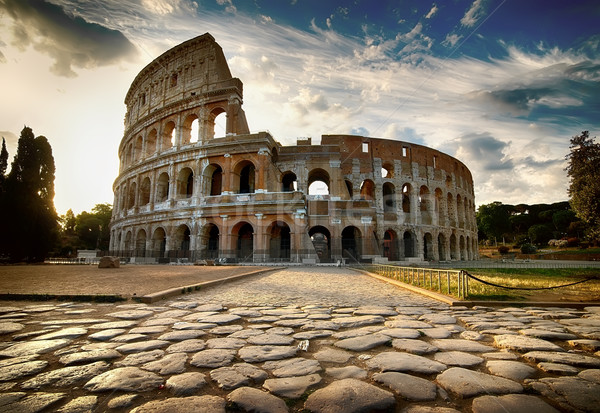 Dawn over Colosseum Stock photo © Givaga