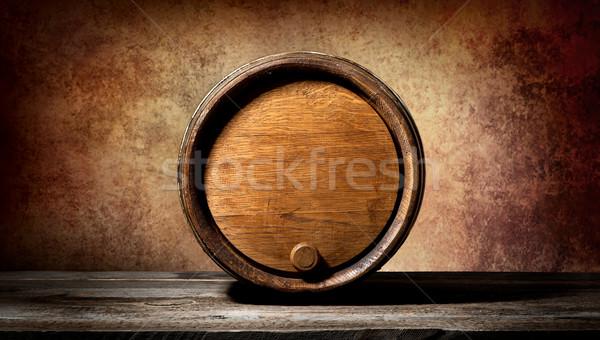 Vat bruin houten tafel zwarte donkere store Stockfoto © Givaga