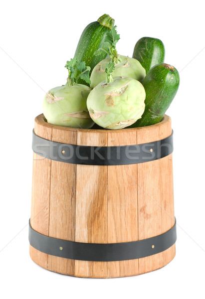 Vegetables in a wooden barrel Stock photo © Givaga