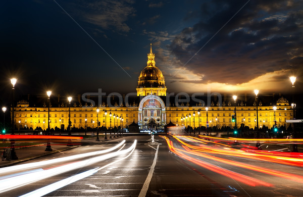 Les Invalides in evening Stock photo © Givaga
