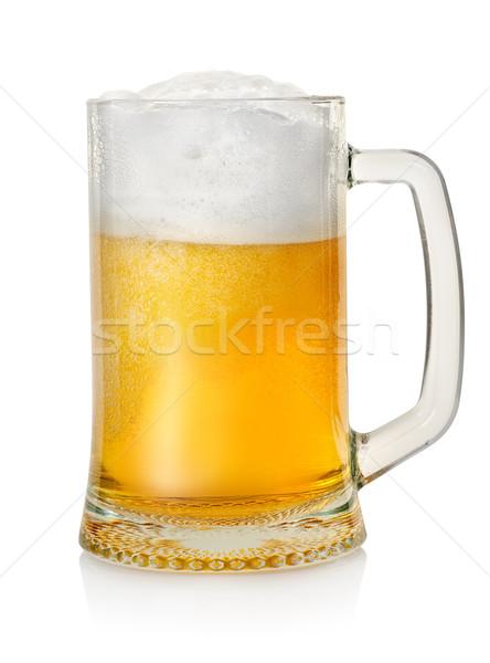 Alman birası bira kupa yalıtılmış beyaz cam Stok fotoğraf © Givaga