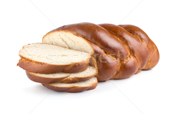 Chunks of sweet bread isolated Stock photo © Givaga