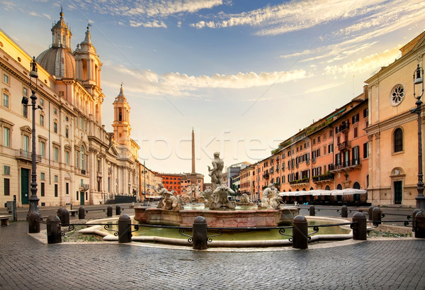 Piazza Navona, Rome Stock photo © Givaga