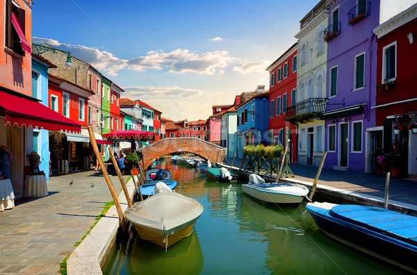 Bright colorful houses Stock photo © Givaga