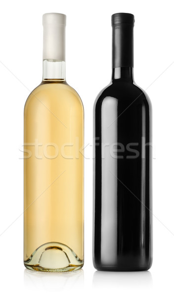 Bottle of red wine and white wine Stock photo © Givaga