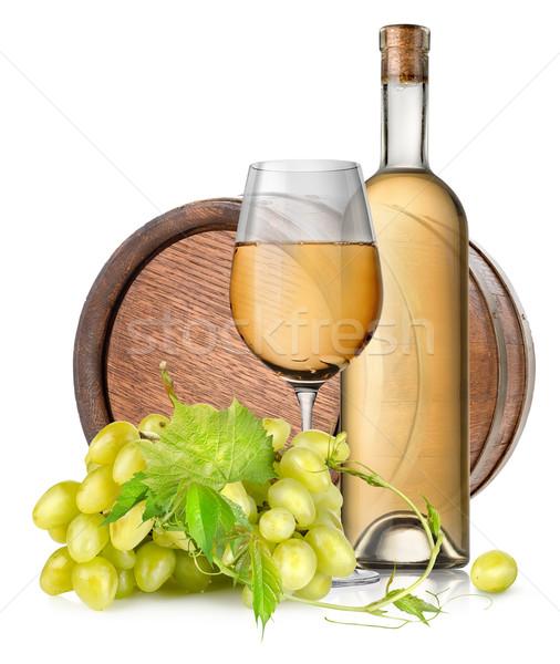 Brązowy baryłkę wina odizolowany biały Zdjęcia stock © Givaga