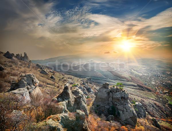 View valle fantasmi luce del sole cielo nubi Foto d'archivio © Givaga