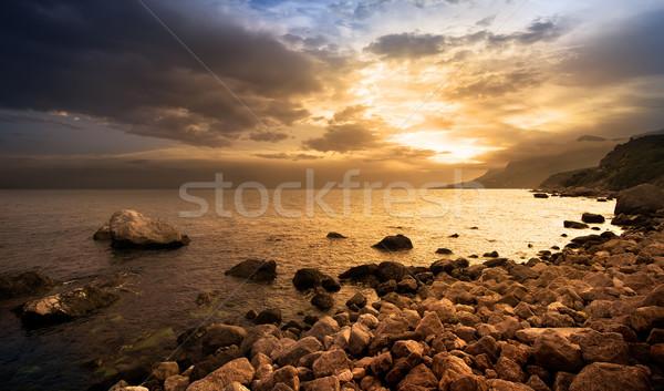 Rocks by the sea Stock photo © Givaga
