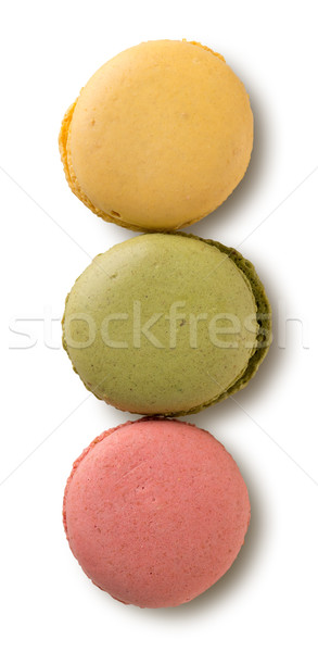 Colored caramel macarons Stock photo © Givaga