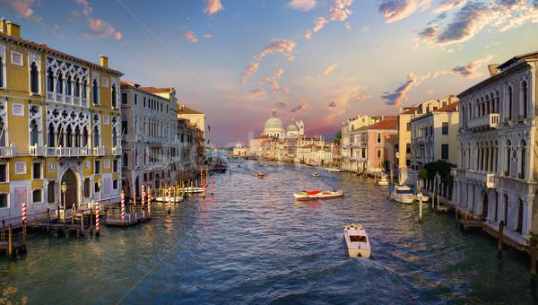 Bateau canal Venise Italie maison ville Photo stock © Givaga