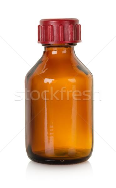 Bouteille médication isolé blanche médecine chimie Photo stock © Givaga
