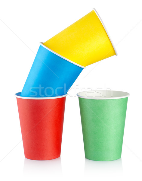 Colorful disposable cups Stock photo © Givaga