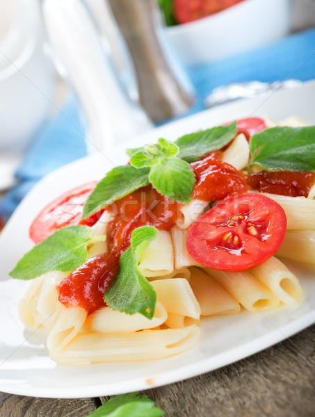 トマト ケチャップ パスタ 木製 食品 健康 ストックフォト © Givaga