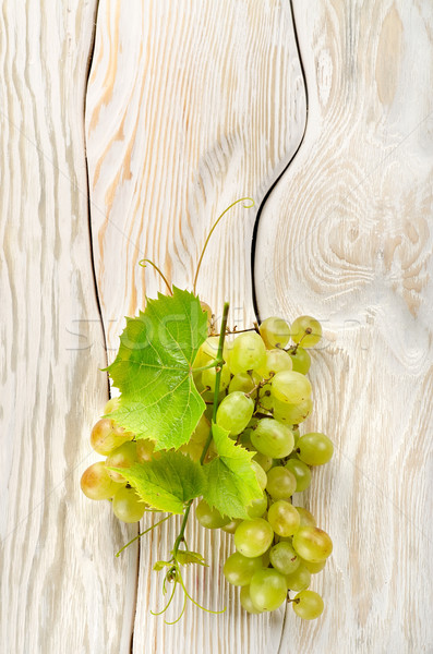 Green grapes on the table Stock photo © Givaga