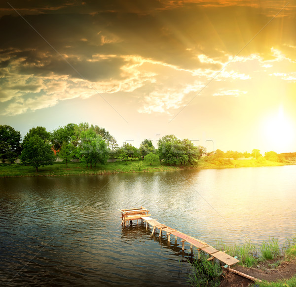 lake in the evening Stock photo © Givaga