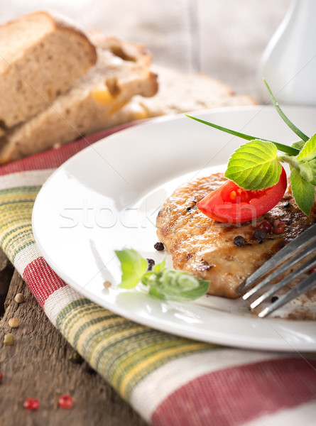 Nourishing steak on grill Stock photo © Givaga
