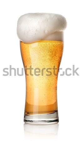 üveg világos sör izolált fehér buli sör Stock fotó © Givaga