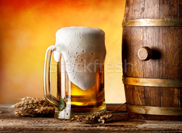 Beer witn wheat Stock photo © Givaga