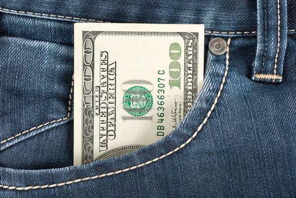 Dolar front kieszeni jeden sto Uwaga Zdjęcia stock © Givaga