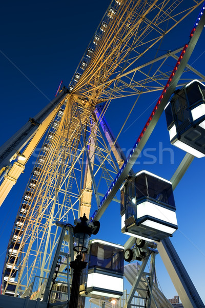 Cabins of Ferris Wheel Stock photo © Givaga