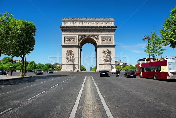 Road to Triumphal Arch Stock photo © Givaga