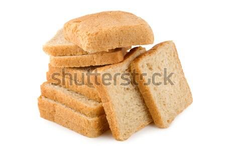 Friss fehér kenyér izolált fehér Stock fotó © Givaga