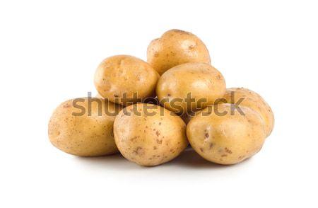 Zoete aardappel ruw geïsoleerd witte Stockfoto © Givaga