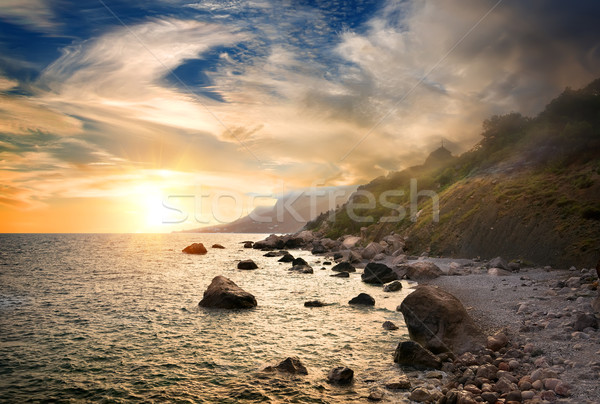 Scenic sunset at Black Sea Stock photo © Givaga