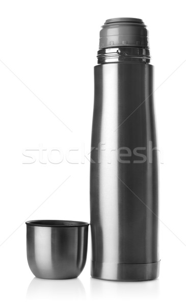 Stainless steel thermos isolated Stock photo © Givaga