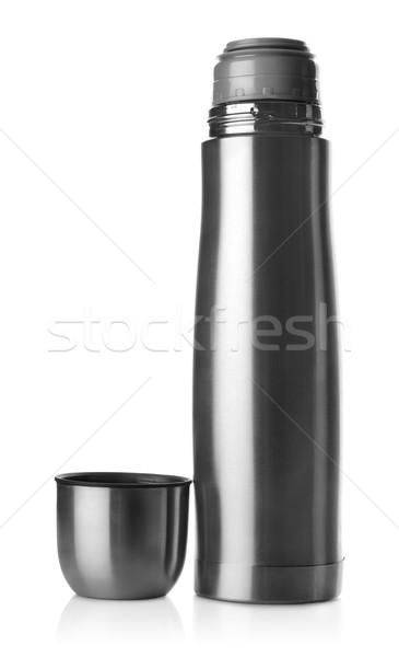 Aço inoxidável isolado branco moda beber garrafa Foto stock © Givaga